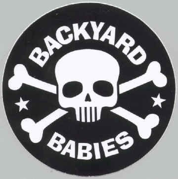 Backyard Babies Vinyl Sticker Skull Crossbones Logo
