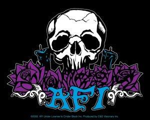 AFI Vinyl Sticker Skull Logo A Fire Inside