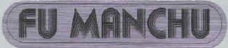 Fu Manchu Vinyl Sticker Chrome Letters Logo