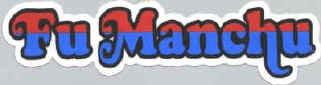 Fu Manchu Vinyl Sticker Die Cut Letters Logo