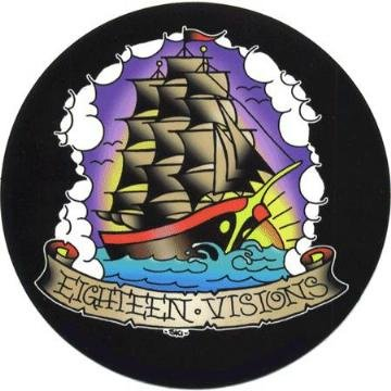 Eighteen Visions Vinyl Sticker Ship Logo