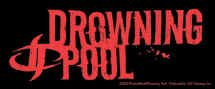 Drowning Pool Vinyl Sticker Red Letters Logo