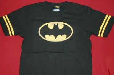 Batman Jersey Shirt Classic Logo Black Size Youth Large