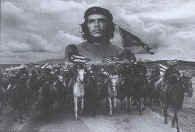 Che Guevara Poster Flag Horses Tapestry