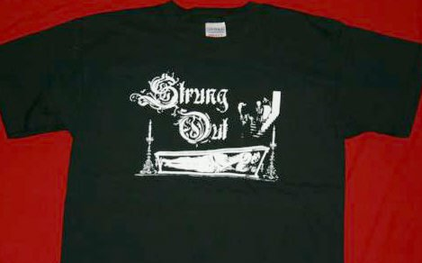 Strung Out T-Shirt Coffin Logo Black Size XL