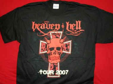 Heaven and Hell T-Shirt 2007 Tour Black Sabbath Size XL
