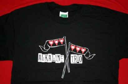 Alkaline Trio T-Shirt Flags Logo Black Size Medium