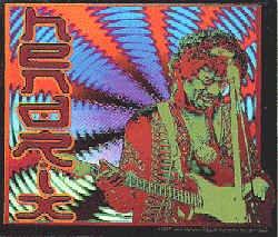 Jimi Hendrix Vinyl Sticker Sound Waves Logo