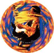 Jimi Hendrix Vinyl Sticker Fire Wheel