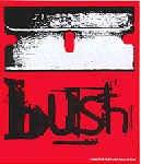 Bush Vinyl Sticker Razor Blade Logo
