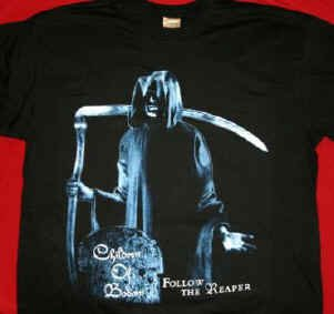 Children of Bodom T-Shirt Follow the Reaper Black Size Large