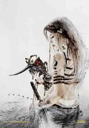 Luis Royo Poster Flag Conceptions Tapestry