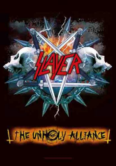 Slayer Poster Flag Unholy Alliance Tapestry