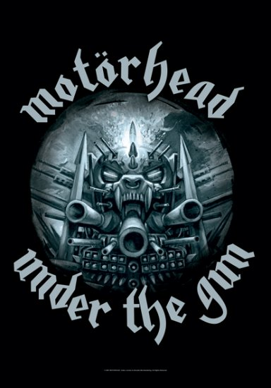 Motorhead Poster Flag Under the Gun Tapestry