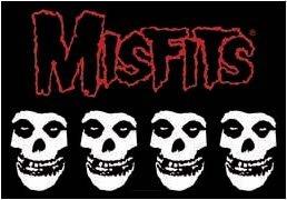 Misfits Poster Flag Four Skulls Logo Tapestry