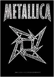 Metallica Poster Flag Ninja Star Tapestry