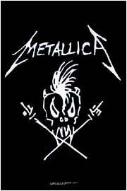 Metallica Poster Flag James Hetfield Design Tapestry