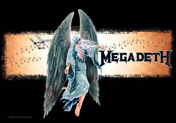 Megadeth Poster Flag Angel Logo Tapestry
