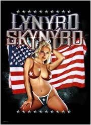 Lynyrd Skynyrd Poster Flag Bikini Girl Tapestry Rock Band