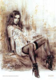 Luis Royo Poster Flag Alone Tapestry