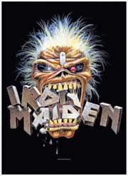 Iron Maiden Poster Flag Eddie Crunch Logo Tapestry Heavy Metal Band