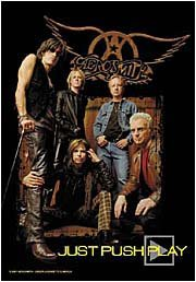 Aerosmith Poster Flag Just Push Play Tapestry