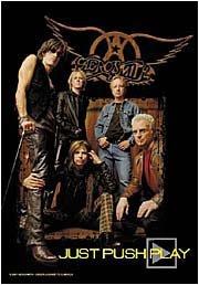 Aerosmith Poster Flag Just Push Play Tapestry