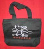 Goo Goo Dolls Canvas Tote Bag Black Stacked Logo