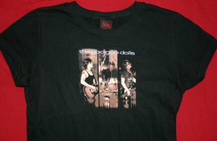 Goo Goo Dolls Babydoll T-Shirt Look Two Black Size Large
