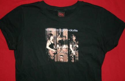 Goo Goo Dolls Babydoll T-Shirt Look Two Black Size Medium