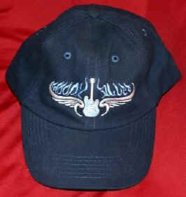 Moody Blues Hat Guitar Logo Navy Blue One Size Fits All