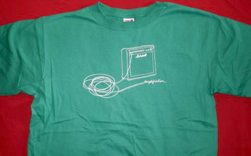 Marshall Amps T-Shirt Hand Drawn Logo Green Size Large