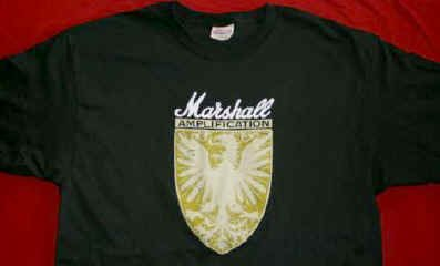Marshall Amps T-Shirt Distressed Eagle Logo Black Size Medium