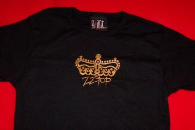 ZZ Top Babydoll T-Shirt Crown Logo Black One Size Fits All