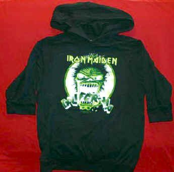 Iron Maiden Hooded Babydoll Shirt California Black Size XL