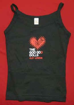 Goo Goo Dolls Babydoll Tank Top Let Love In Black Size Small