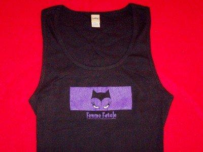 Femme Fatale Babydoll Tank Top Black Size Large