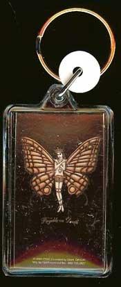 POD Lucite Key Chain Butterfly Logo