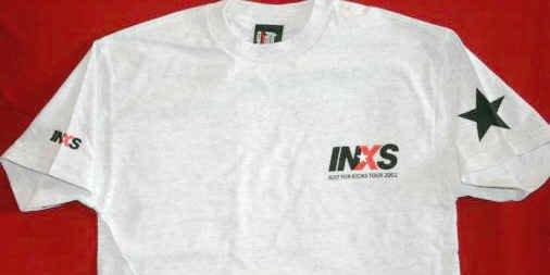 INXS T-Shirt Just For Kicks Tour Gray Size Medium