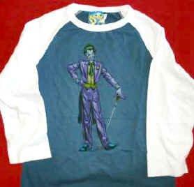 Batman The Joker Babydoll Jersey Shirt Size Medium