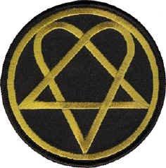 HIM Iron-On Patch Heartagram Circle Logo
