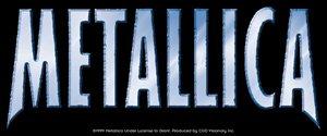 Metallica Vinyl Sticker Chrome Letters Logo