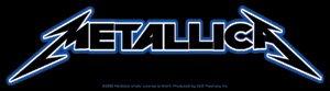 Metallica Vinyl Sticker Classic Letters Logo