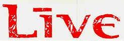 Live Vinyl Sticker Red Letters Logo