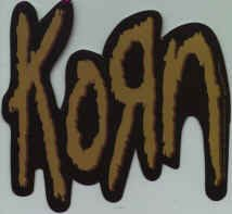 Korn Vinyl Sticker Brown Letters Logo