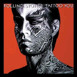 Rolling Stones Iron-On Patch Mick Jagger Tattoo