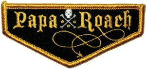 Papa Roach Iron-On Patch Crossbones Logo