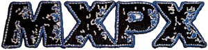 MXPX Iron-On Patch Letters Logo