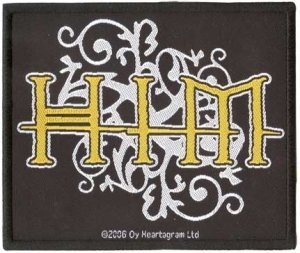 HIM Iron-On Patch Yellow Letters Logo