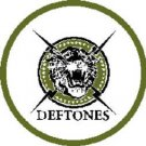 Deftones Iron-On Patch Circle Tiger Logo